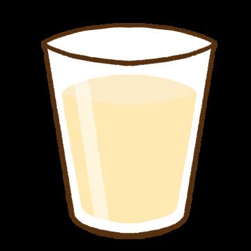コップに入った豆乳のイラスト