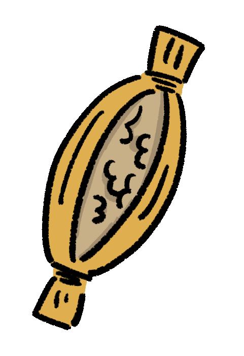 わら納豆の手書きイラスト