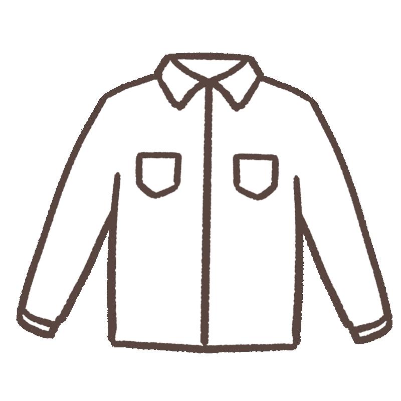 白いシャツのイラスト