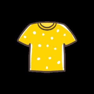 黄色いTシャツのイラスト