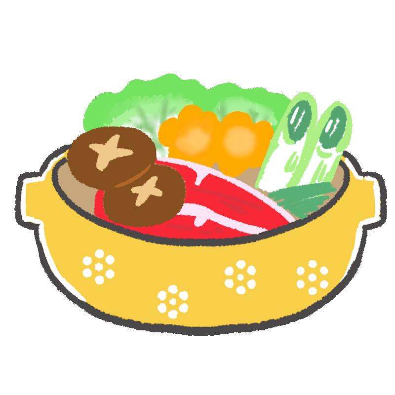 寄せ鍋のイラスト