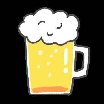 ジョッキに入ったビールのイラスト