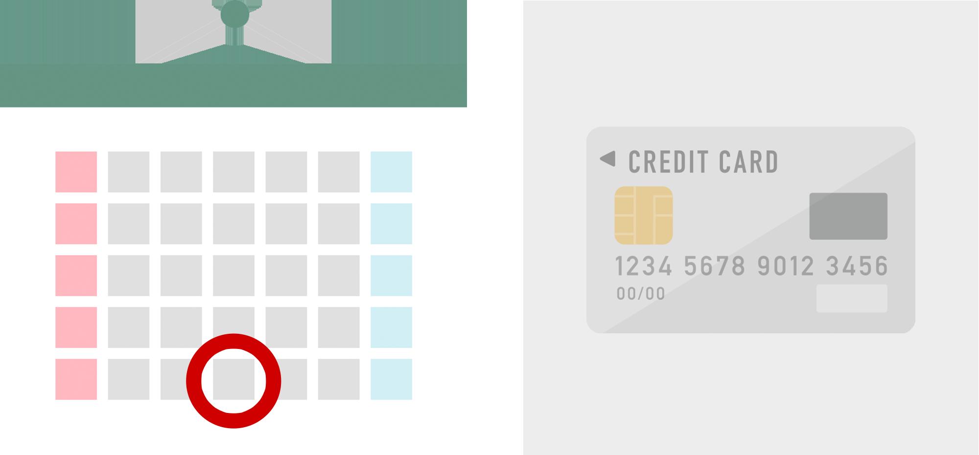 クレジットカードの引き落とし日のイラスト
