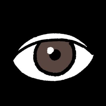 二重まぶたの目のイラスト