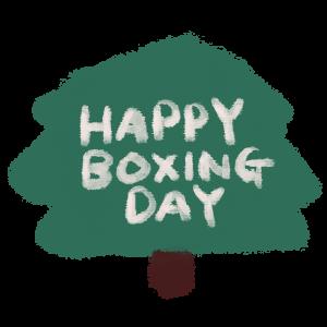 ボクシング・デーの文字のイラスト
