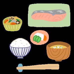 一汁三菜のイラスト