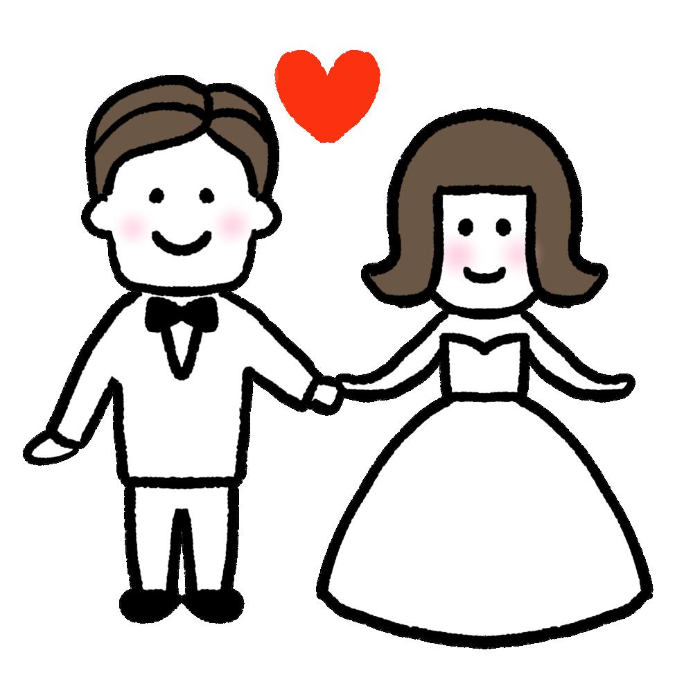 結婚のアイコン風イラスト