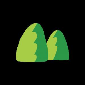 山のアイコン風のイラスト