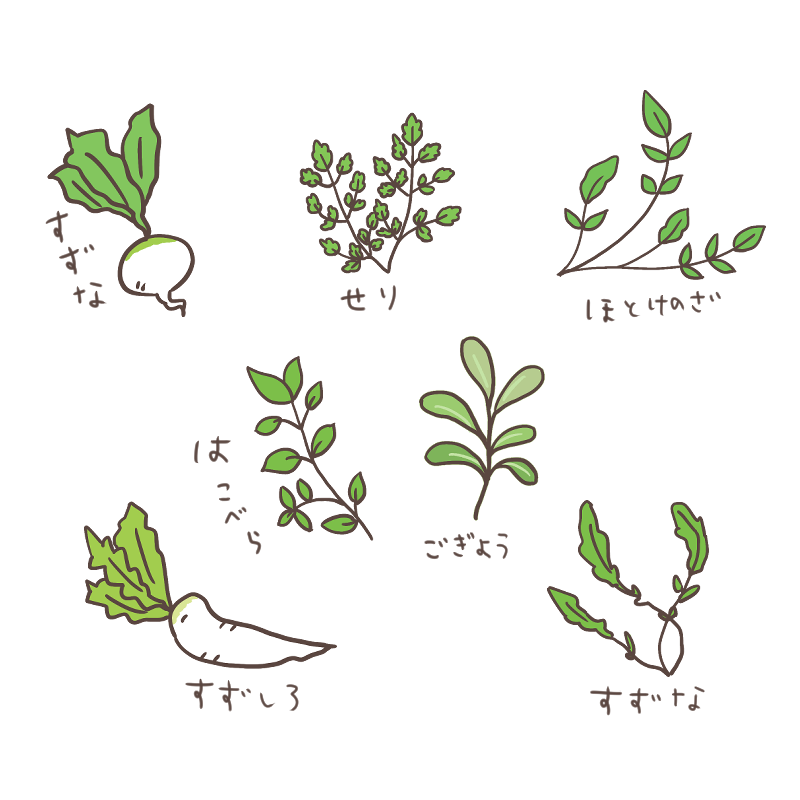 春の七草のイラスト
