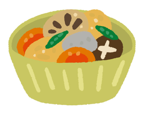 煮物の小鉢のイラスト