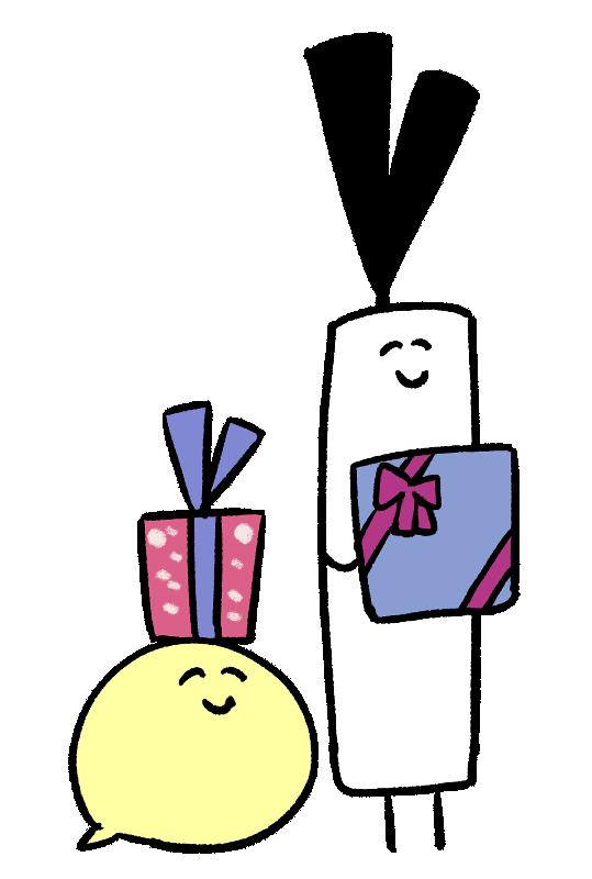 プレゼントを持っているイラスト