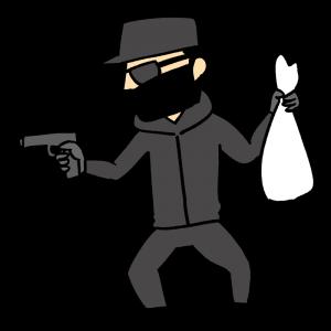 強盗のイラスト