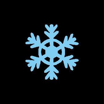 雪の結晶のアイコン風のイラスト