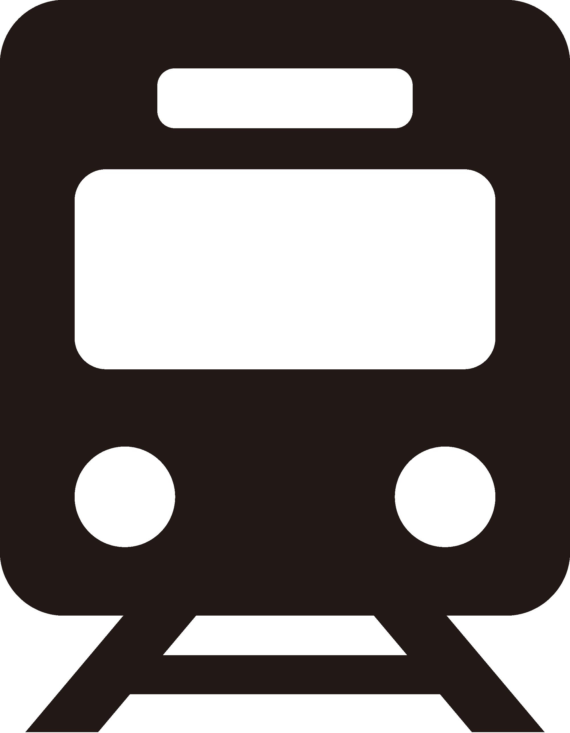 鉄道のシルエットアイコン