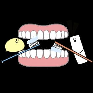 歯を磨いているイラスト