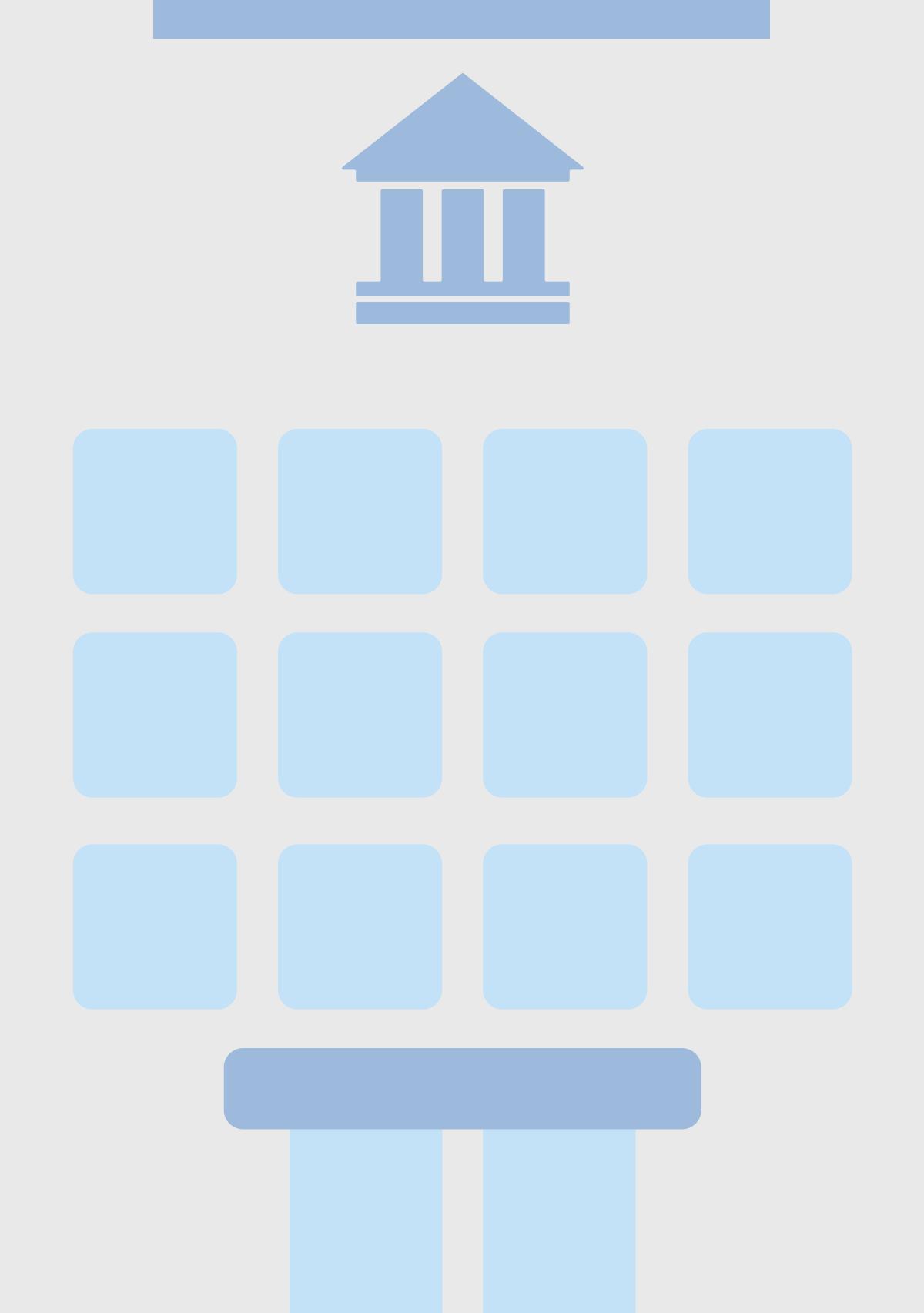 シンプルな銀行の外観イラスト