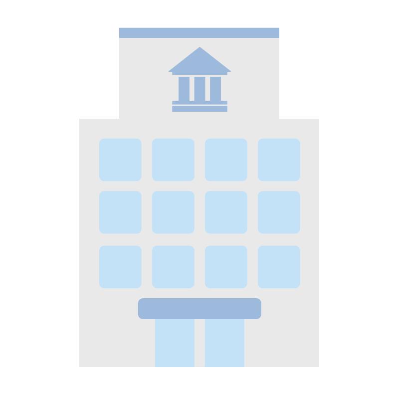シンプルな銀行のイラスト