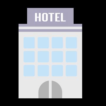 シンプルなホテルをイメージしたイラスト