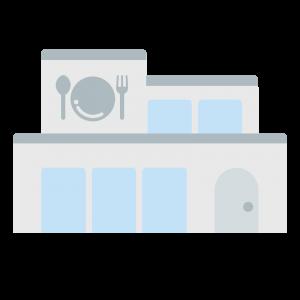 シンプルなレストランのイラスト