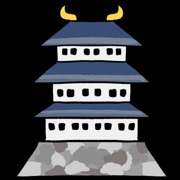 日本のお城をイメージしたイラスト