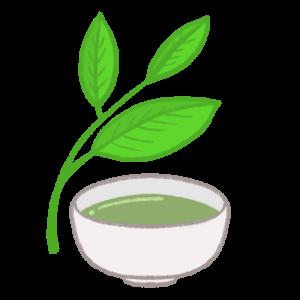 お茶と茶葉のイラスト
