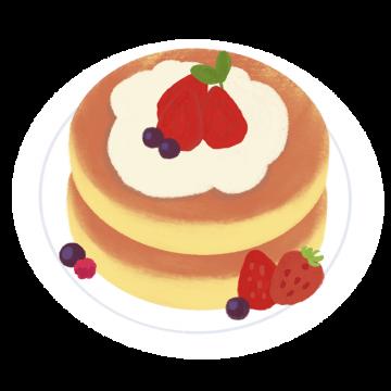 2段パンケーキのイラスト