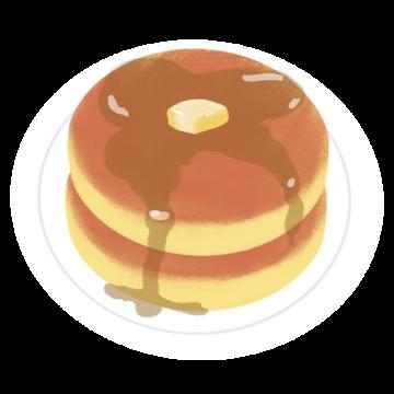 プレーンなパンケーキのイラスト