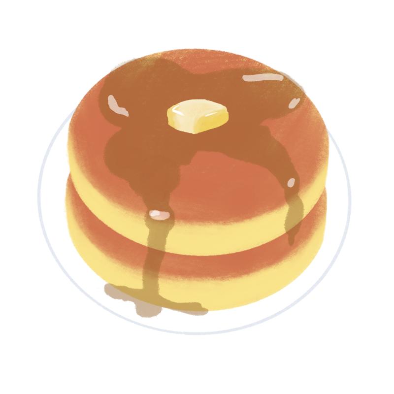 プレーンなホットケーキのイラスト