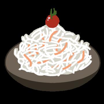 大根サラダのイラスト