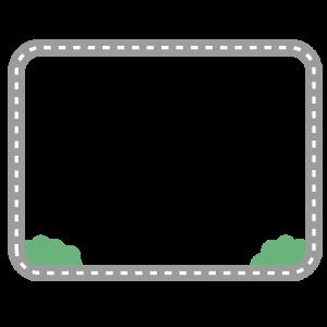 道路風なフレームのイラスト