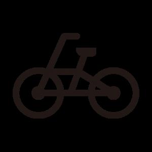 自転車のアイコンシルエット