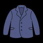 青紫色のジャケットのイラスト