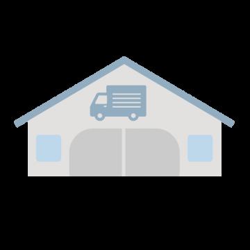 運送会社の倉庫のイラスト