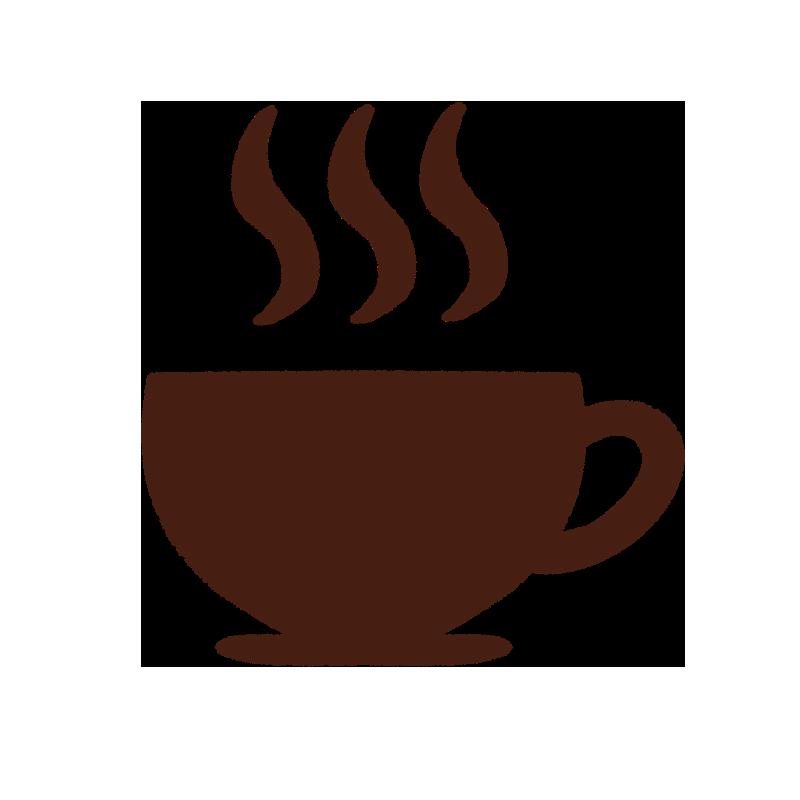 カフェのコーヒーアイコン風なイラスト