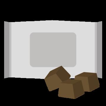 キューブのチョコレートのイラスト