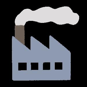 アイコン風な工場のイラスト