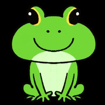正面を向いたカエルのイラスト