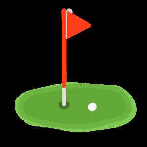 ゴルフのフラッグスティックのイラスト