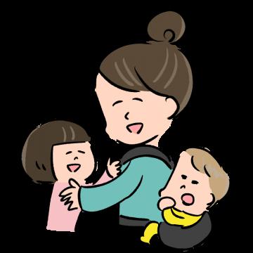 お母さんと子供のイラスト