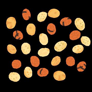 おのろけ豆のイラスト