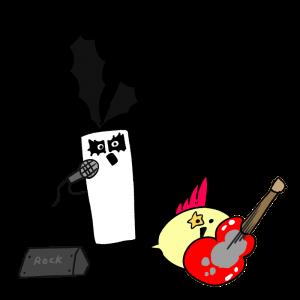 ロック歌手のイラスト