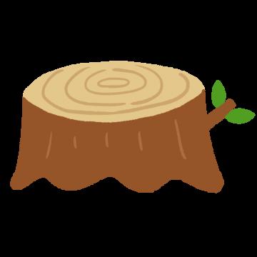 木の切り株のイラスト