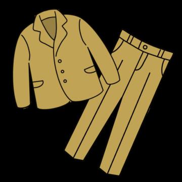 茶系のスーツのイラスト