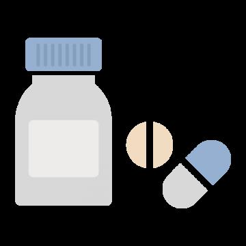 シンプルなサプリメントのイラスト