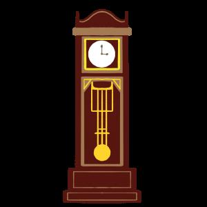 柱時計のイラスト