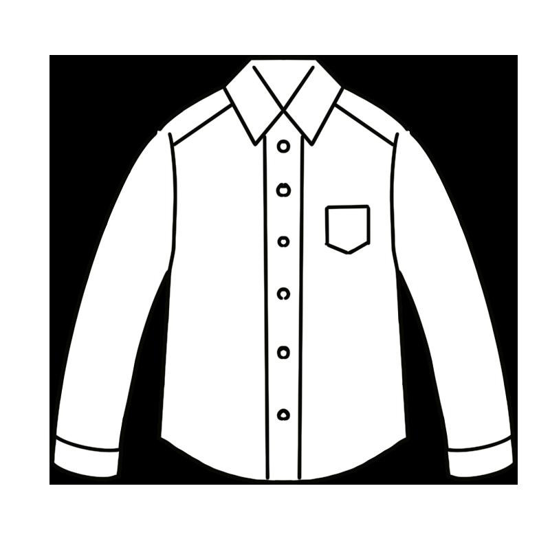 白いワイシャツのイラスト