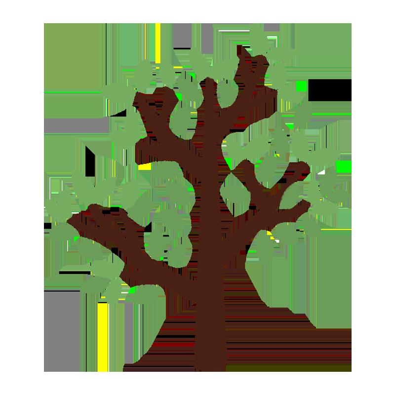 葉っぱがついた木のイラスト