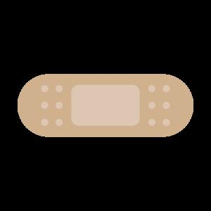 シンプルな絆創膏のイラスト