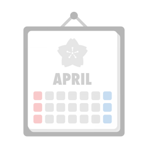 4月のカレンダーのイラスト