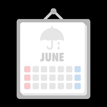 6月のカレンダーのイラスト